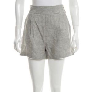 NWT BAND OF OUTSIDERS Linen Mini Shorts